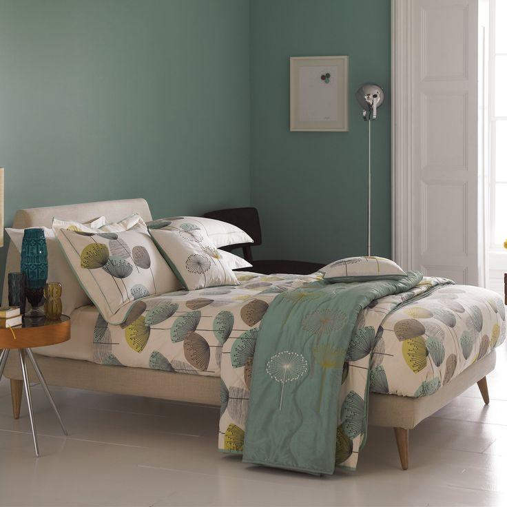 Dandelion Clocks (Aqua) sale £60 + £17 pillowcases