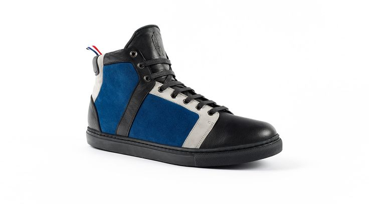 Baskets - Heritage-Paris - Nolita Montante - Blue Monday  #heritageparis #heritage #sneakers #kicks #shoes #nolita #hightop #baskets #luxury #basketacostume #blue