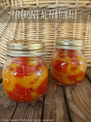 Conserva di peperoni al naturale - ricetta furba con microonde - Ogni riccio un pasticcio