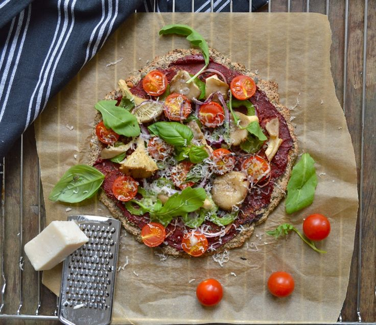 Grain-Free Chia Buckwheat Pizza This crust is my favorite, just skip the cheese on top for the vegan version.