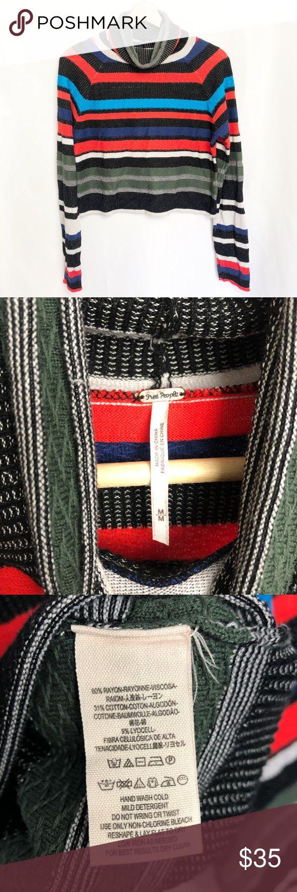 Freie Menschen | Cropped Sweater Cropped Sweater mit Rollkragenstreifen aus …