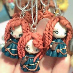 Merida polymer clay necklace x