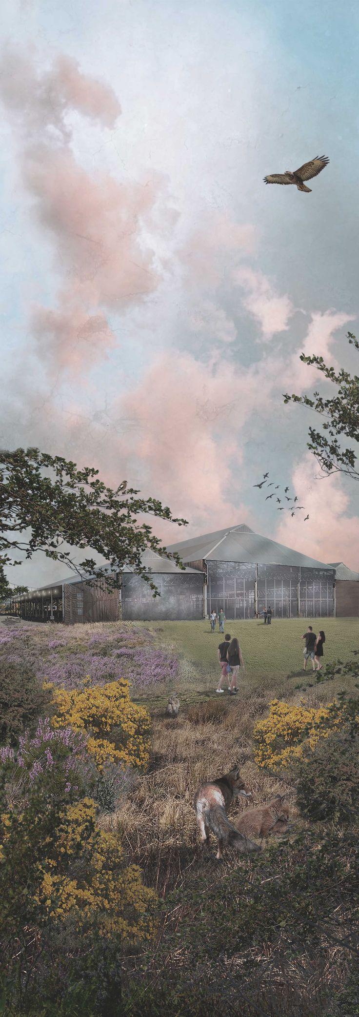 MSc Landscape Architecture - Edinburgh College of Art - Final Year Project Abattoir Park Visual, by Meg Johannessen (made with Photoshop)