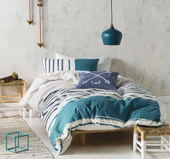 Lilou Quilt Cover Set Range Teal - Kids | Manchester Warehouse