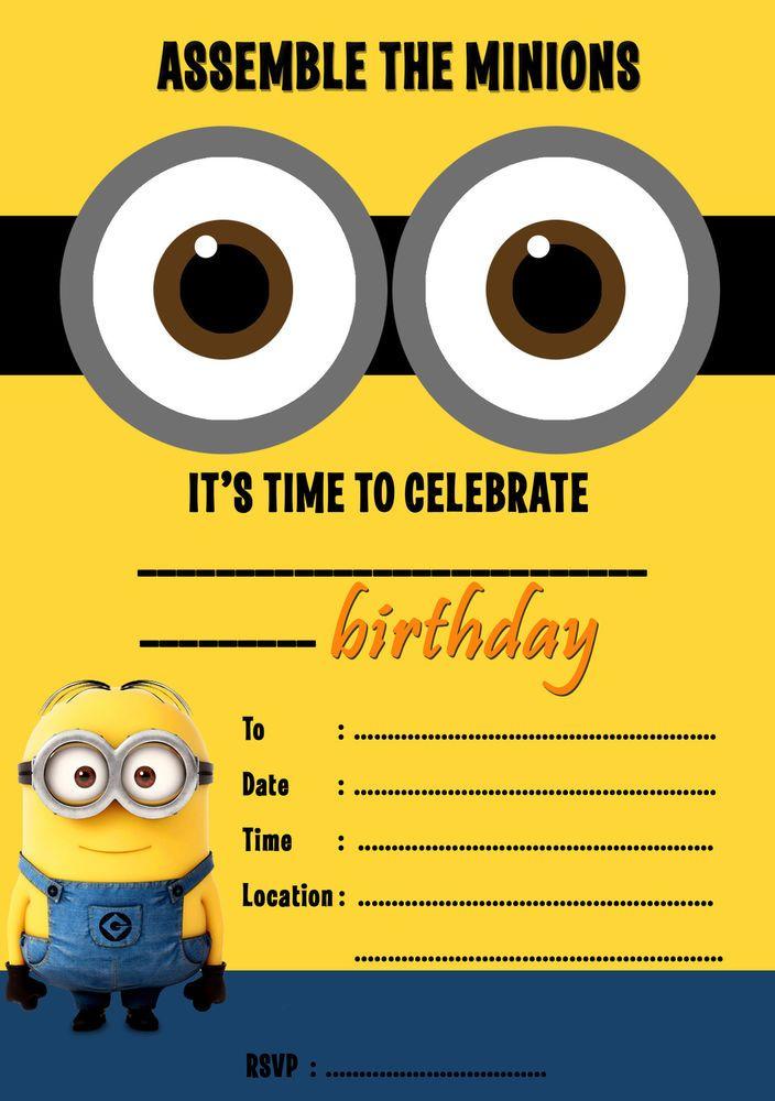 25+ best ideas about Minion birthday invitations on Pinterest