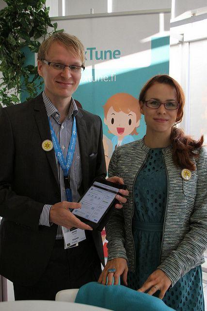 HR Tech Amsterdam 2013 Intunex booth Janne and Annukka #hrtecheurope