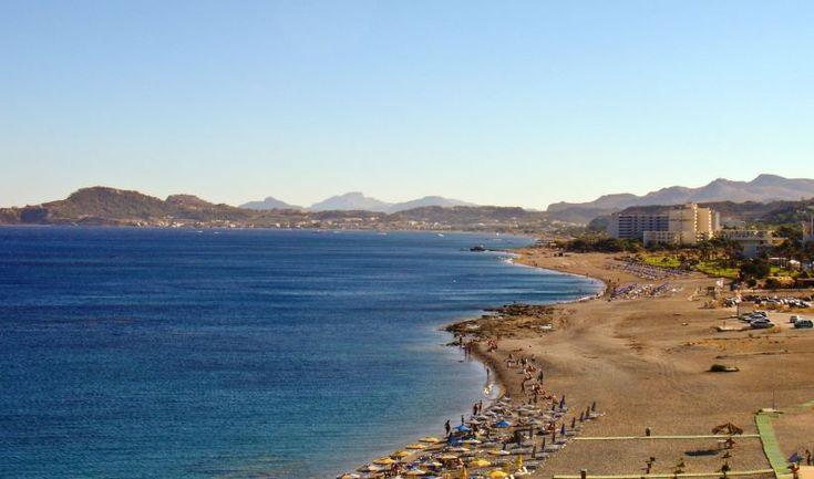 Faliraki beach in Rhodes
