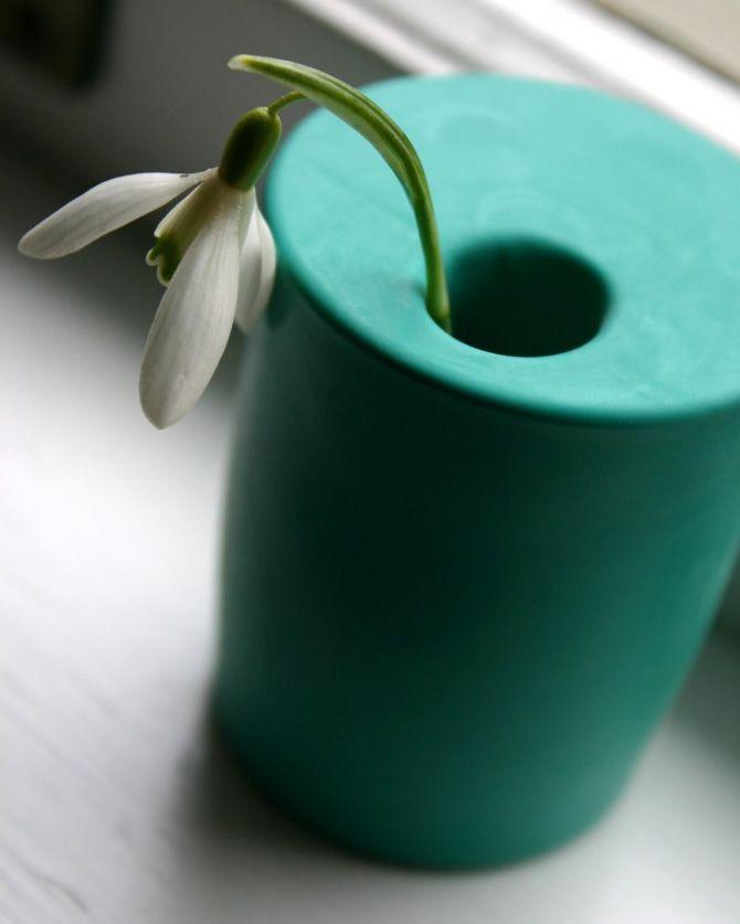 Personnaliser un vase avec un ballon de baudruche