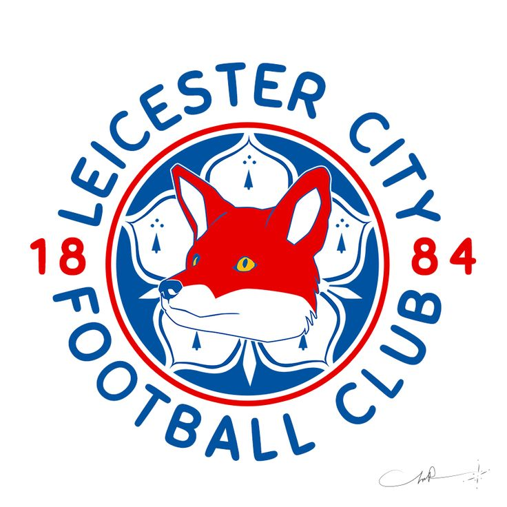 My version of Leicester City Football Club in RED.   I love it in RED. What do you think? #LCFC ‪#‎MySportLogos‬