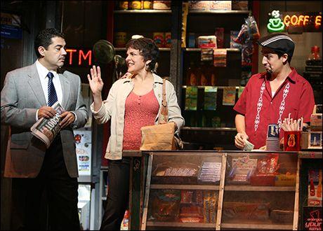 Carlos Gomez, Priscilla Lopez and Lin-Manuel Miranda