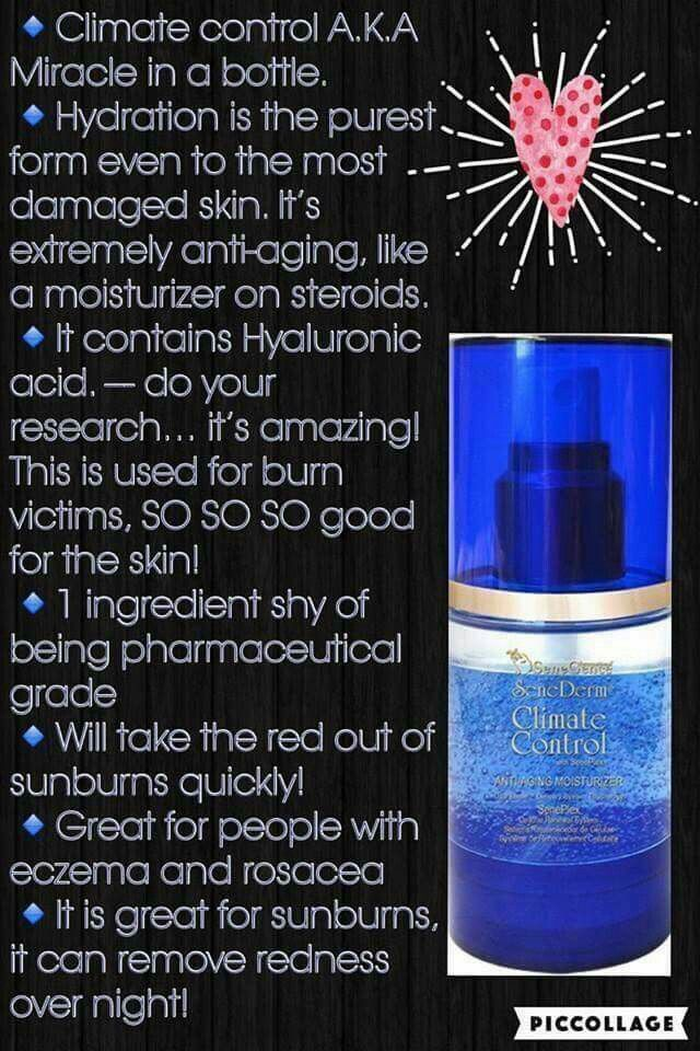 Climate control through Senegence is a miracle in a bottle! It heals even the most sensitive of skin, my rosacea is completely gone! Come get yours and find me on Facebook at Erica's Beauty Blooming Business Launch!