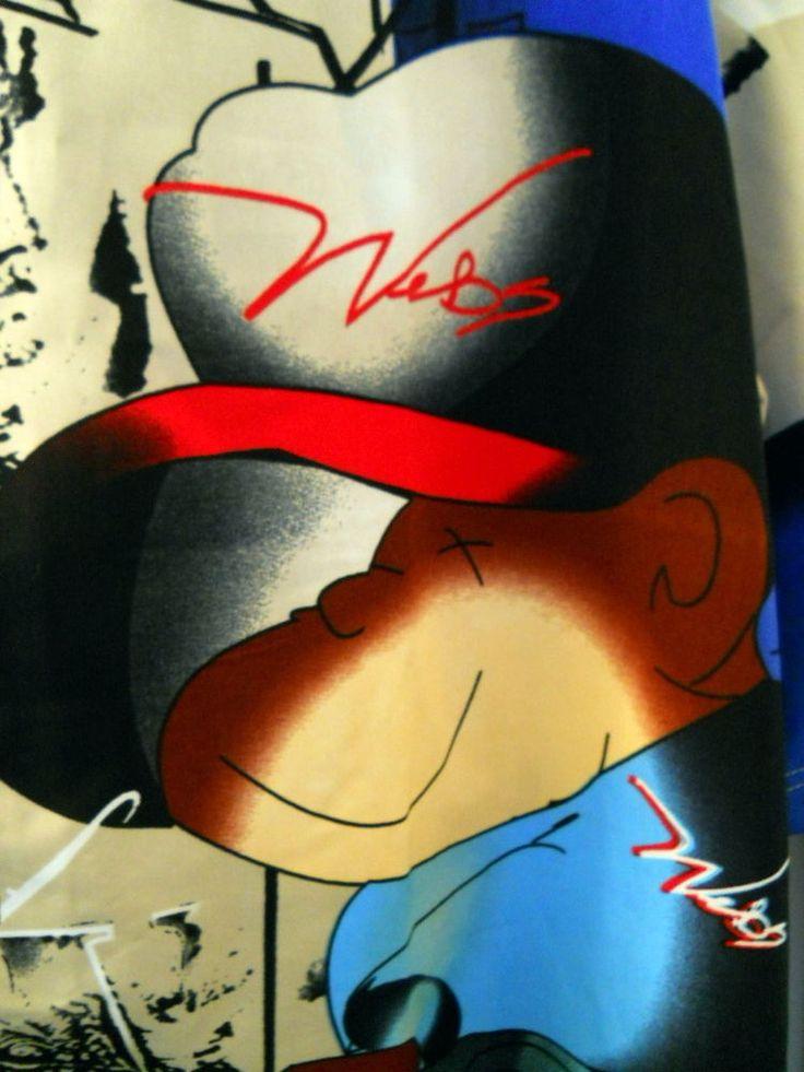 WEBS 3XL Urban Rap Power Of Money Cartoon Character Dude Shirt Italian Lira #WEBS #ButtonFront