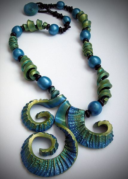 Gorgeous Polymer Clay Jewelry and Tutorial by Helen Breil - The Beading Gem's Journal