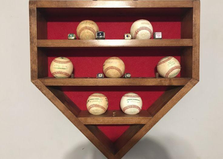 Baseball Ring Display Baseball Ideas Baseball Display