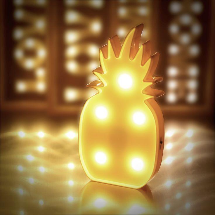 Piña iluminada   #Pineapple #luces #navidad #led #decoración #hogar #fiesta #navideño #tropical #piña #party