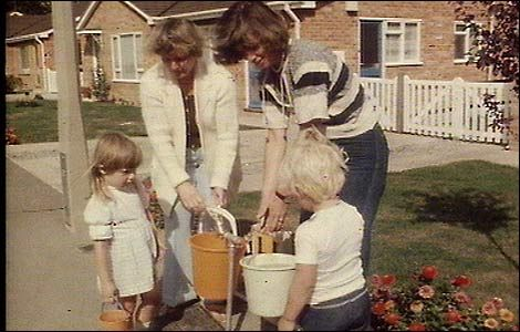 Summer 1976....THE summer.....water shortages....baling out the bath water to put on the garden!