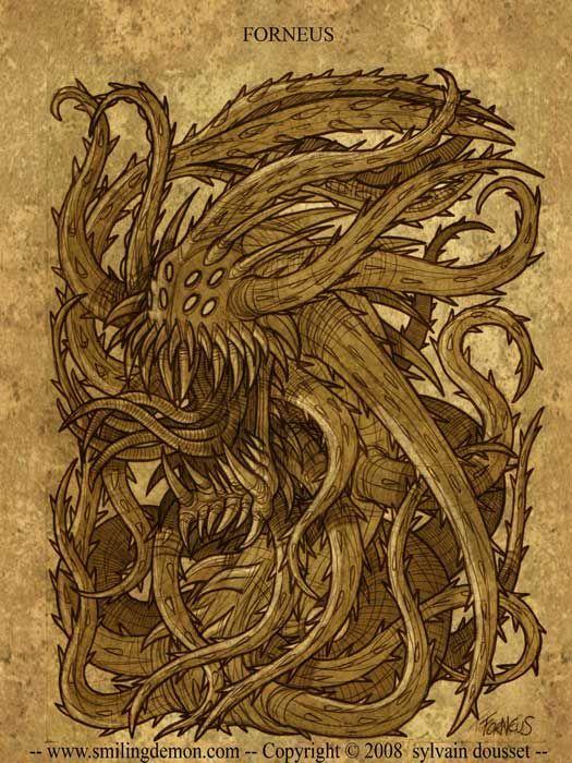Forneus Demon | Tirage papier photo brillant, signé ... Агалиарепт