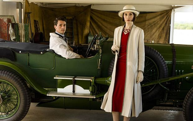Matthew Goode & Michelle Dockery portray Henry Talbot & Lady Mary Crawley in Downton Abbey, Series 6