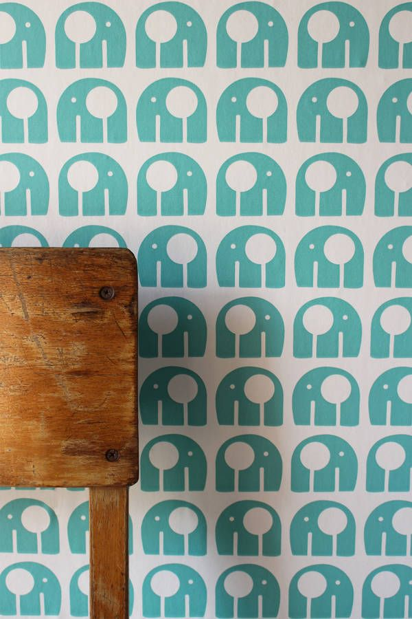 nelly wallpaper blue by rachel powell | notonthehighstreet.com