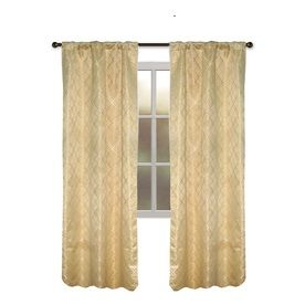 Allen + Roth Bannerton L Solid Gold Thermal Rod Pocket Curtain Panel