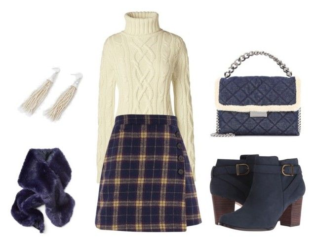 """""""Simple Renata Outfit"""" by riesta-divanda-devi-chattleya on Polyvore featuring Lands' End, Cole Haan, STELLA McCARTNEY, Banana Republic and JustFab"""