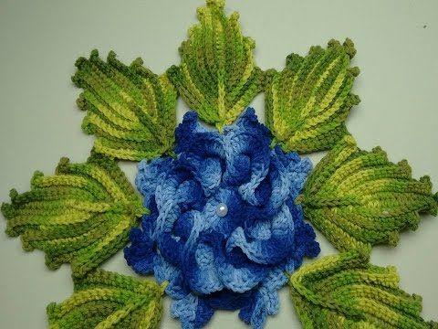 Flor De Crochê Para Aplicação - Jogo de Banheiro Nº03 - YouTube