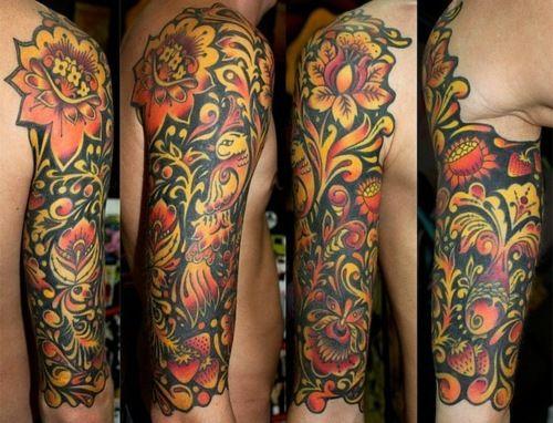 Khokhloma tattoo...