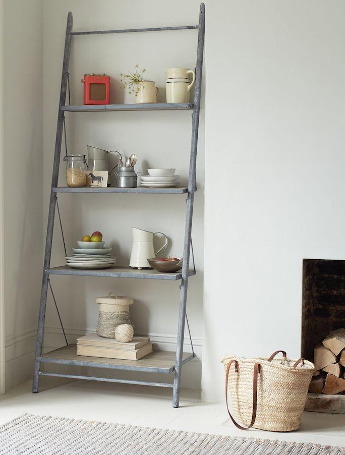 Loaf's industrial leaning Pisa ladder shelves