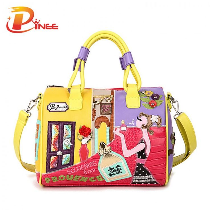 2016 Candy Color Handbags High Quality Fashion Italian Leather Bags Famous Brands Stylish Female Tote BagLeather Bags