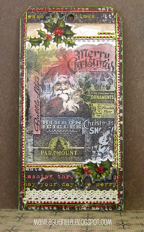 12 Tags for Christmas 2017 - Merry & Bright