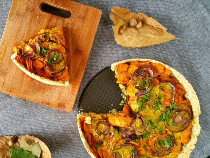 Tarte+épicée+aux+carottes+(vegan)