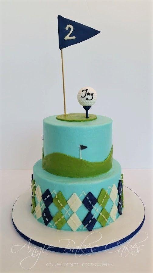 """Golf themed """"Par-Tee"""" cake"""
