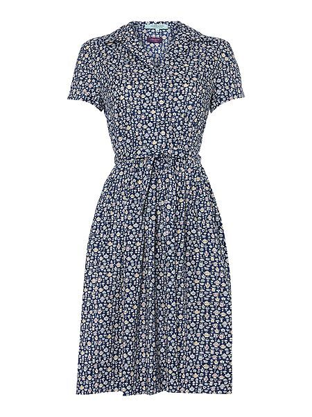 Liberty teacup print shirt dress