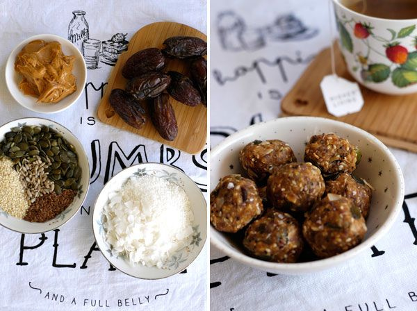 {Sweet Tooth} Raw Peanut Butter and Date balls
