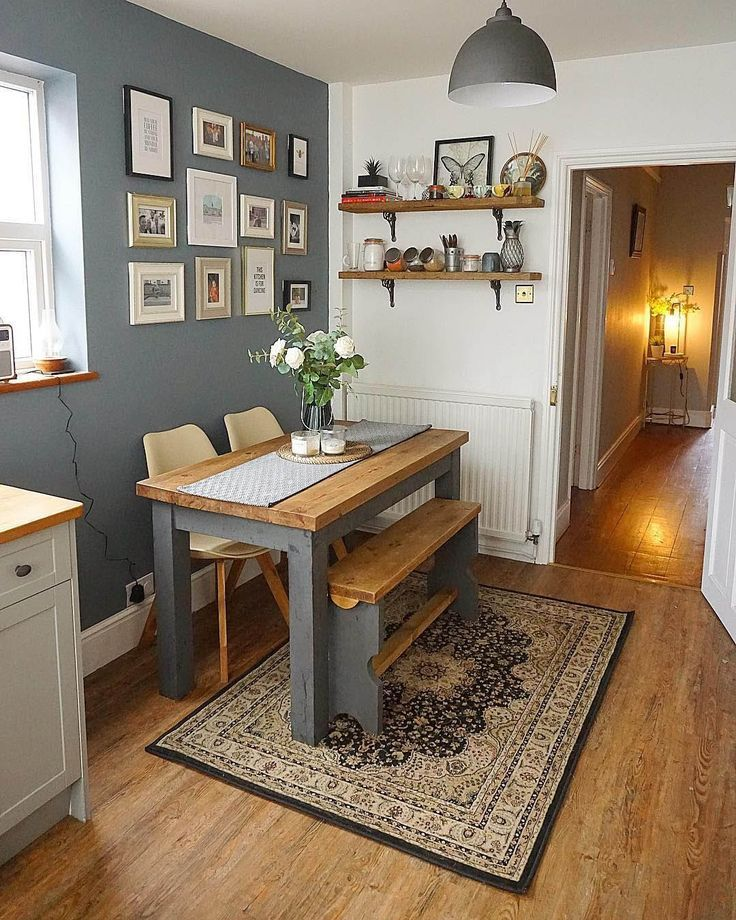 how to decorate a small kitchen table