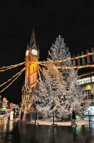 Christmas in Leicester, England