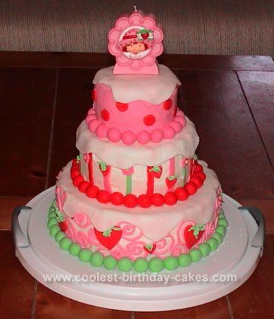 Strawberry shortcake birthday cake