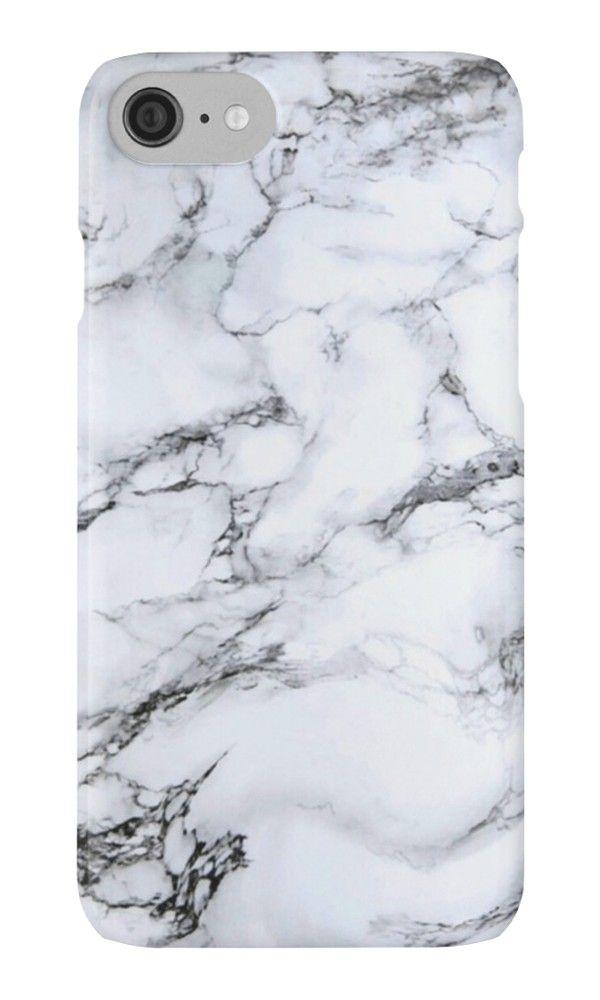 'black and white marble' iPhone Case by Skye Kalara