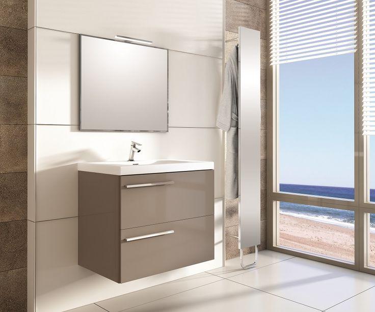 Marsyli 70 2S taupe. #elita #meble #lazienka #marsylia #bathroom #furniture