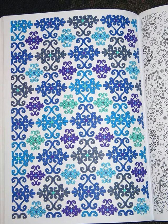 Kleurboek Voor Volwassenen Blauw Coloring BookColouringArt