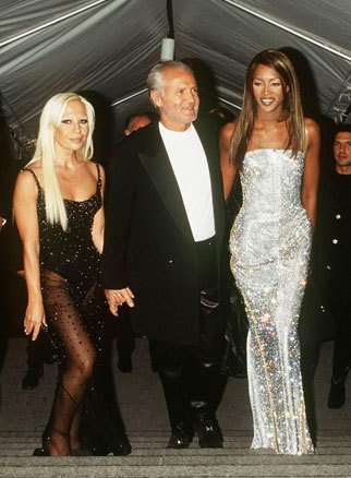 Gianni & Donatella Versace with Niaomi Campbell