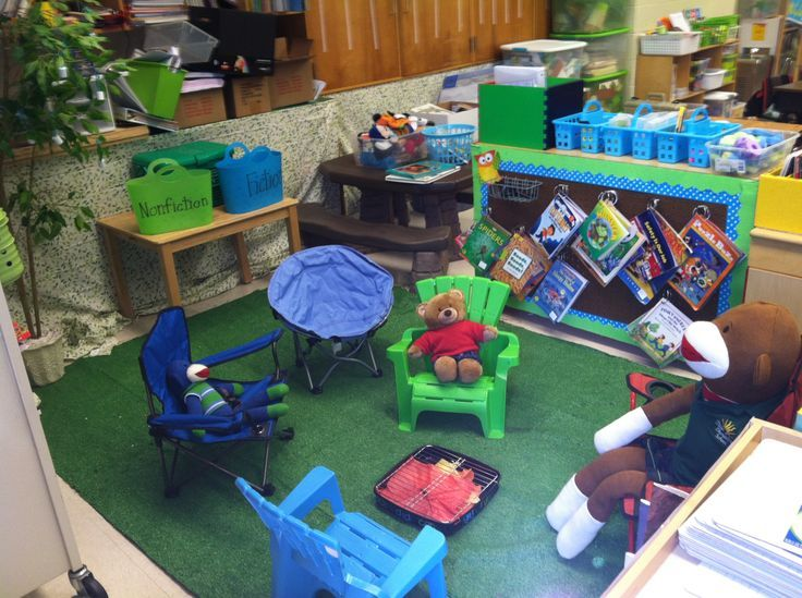 Summer Camp Classroom Decorations ~ Camping theme classroom pictures the reading center in