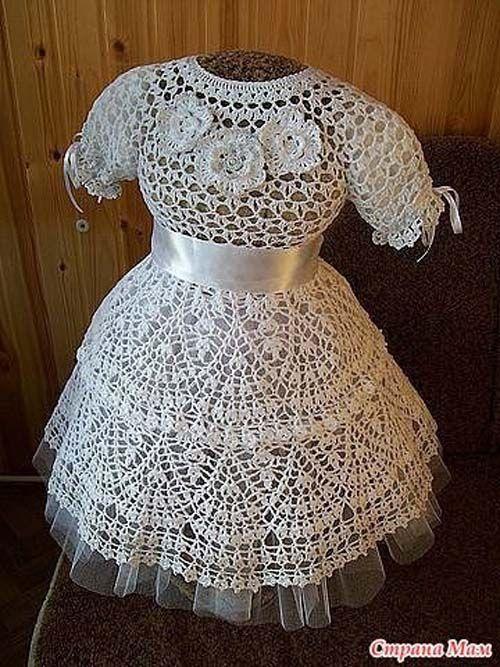 Patron para hacer un vestido de niña a crochet01