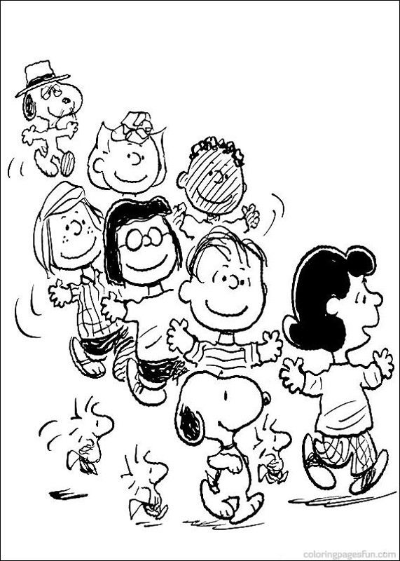 snoopy coloring pages 4