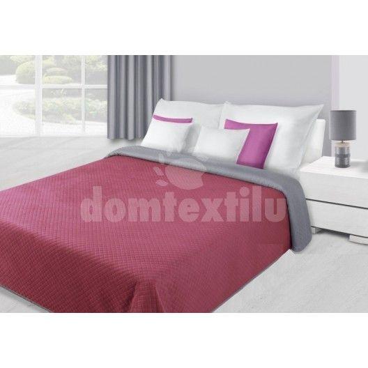 Bordové obojstranné prehozy na postele