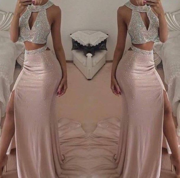 Rose Gold Prom Silvers: 78+ Ideas About Gold Two Piece On Pinterest