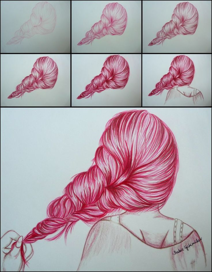 18 Best Photos of How To Draw Hair Step By Step - How to Draw ...