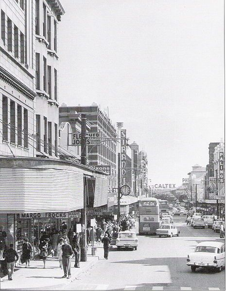 Newcastle's main shopping district 1968