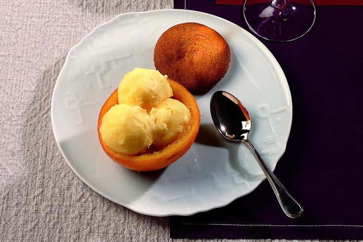 La Cucina Italiana Cestini di arancia con sorbetto