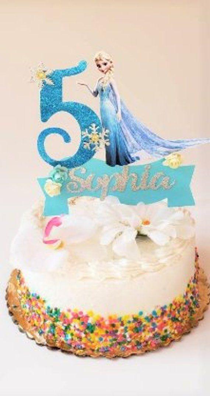Tremendous Frozen Cake Topper Frozen Elsa Centerpiece Frozen Elsa Party Funny Birthday Cards Online Fluifree Goldxyz